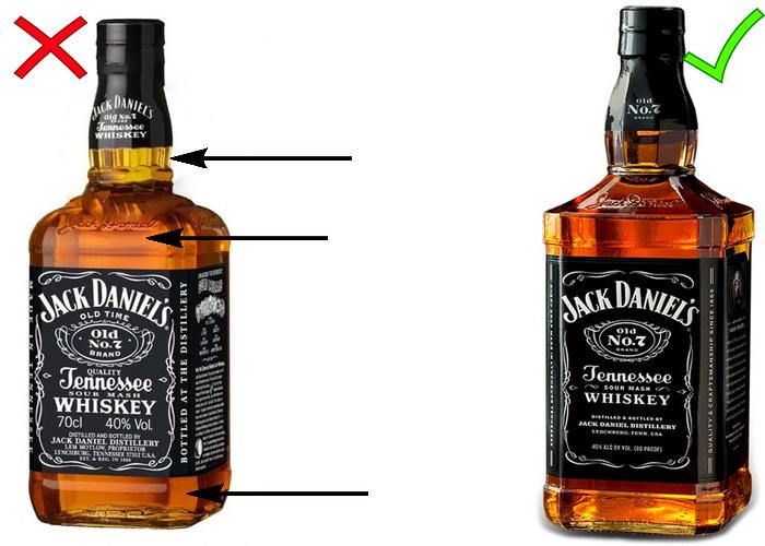 Контрафактный виски Джек Дэниэлс