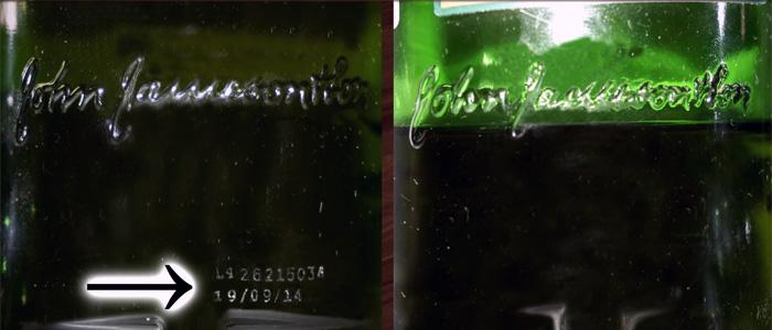 Дата розлива виски Jameson
