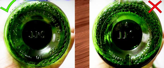 Дно оригинальной бутылки Jameson