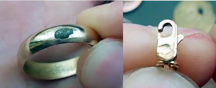 Проверка золота ляписным карандашом