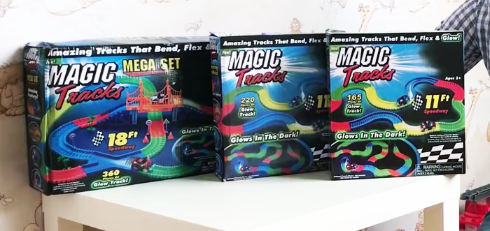 Светящаяся дорога с машинками magic tracks