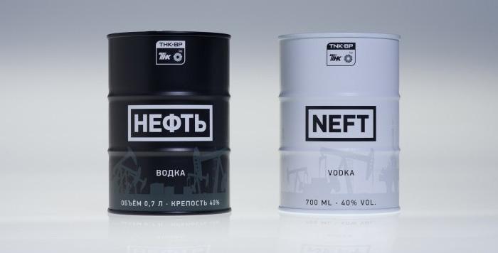 Вариант исполнения водки Нефть