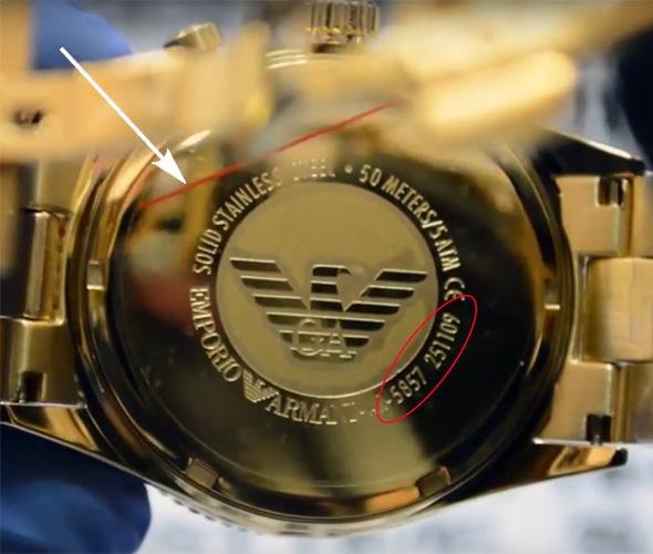 19474fbe63e4d8 Как отличить подделку и реплику часов Armani - фото инструкция