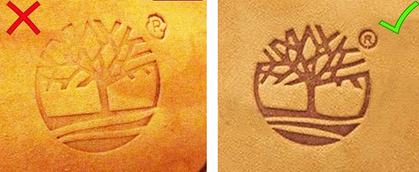 Timberland логотип на обуви.