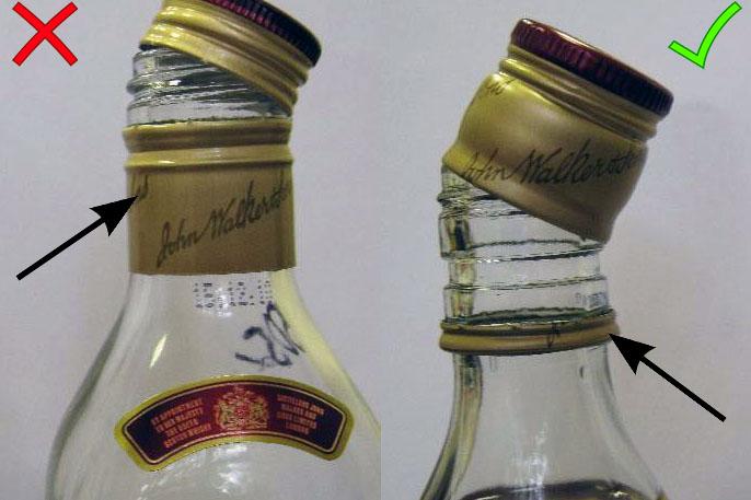 Виски Johnnie Walker как отличить подделку.