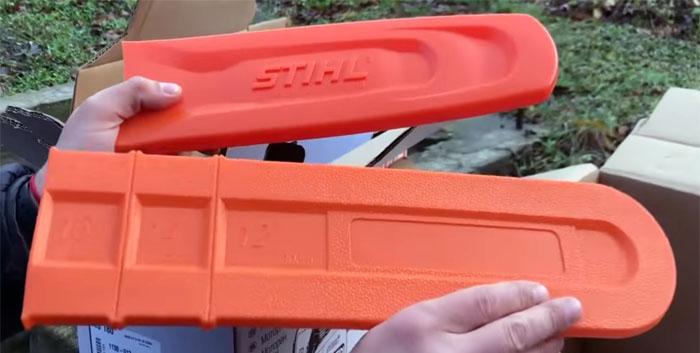 Отличия чехлов оригинальной и поддельной пилы Stihl.